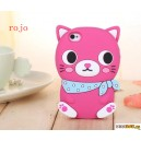 Cool Cat con bufanda - la silicona carcasa para iphone 4/4S/5/5S